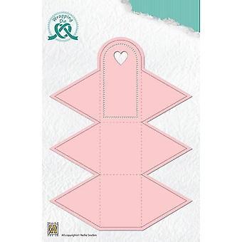 Nellie's Choice Wrapping Die lahjalaatikko - 4 kolmiota WPD004