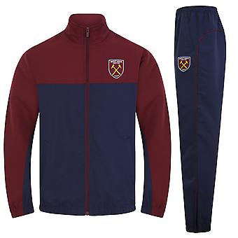 West Ham United FC Official Football Gift Mens Jacket & Pants Tracksuit Set