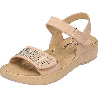 Rieker Wedge Heel Platform Open Toe Sandals Pink V5772-31