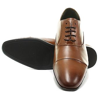 Frank James Shark Tan Mens Lace Up Oxford Shoes