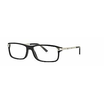 Cartier Chuck CT0073O 003 Black-Silver Glasses