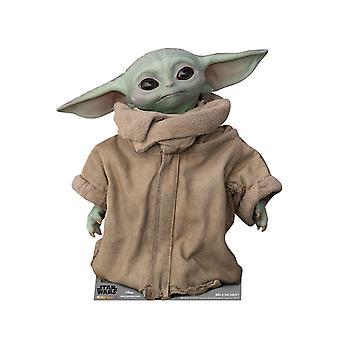 The Child (Baby Yoda) Head Tilting Left Official Mandalorian Cardboard Cutout / Standee