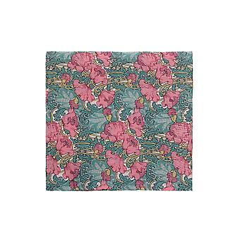Pink & Green Liberty Art Fabric Floral Print Pocket Square