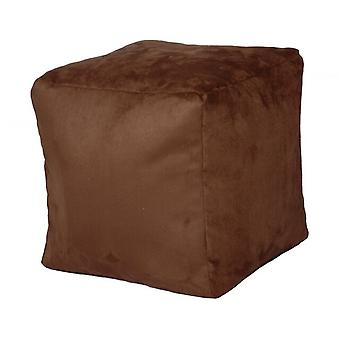 Seat cube Alka dark brown brown size 40 x 40 x 40 with filling
