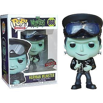 Munsters Herman Hot Rod US Eksklusive Pop! Vinyl
