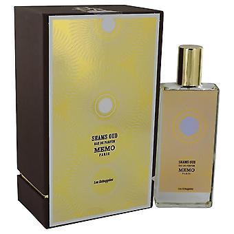 Shams Oud Eau De Parfum Spray (Unisex) By Memo 2.5 oz Eau De Parfum Spray