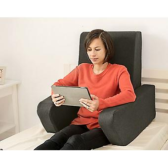 Veranderende banken Una Soft Wool Effect Foam Reading Work Cushion Back Rest - Grafiet