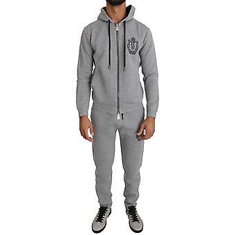 Gray sport-sweater-pants tracksuit