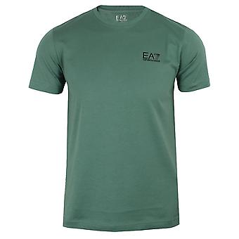 Ea7 emporio armani men's dark forest small logo t-shirt