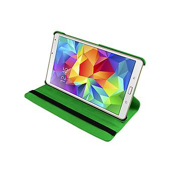 """PU Leather Case 360 Rotating for Samsung Galaxy Tab S T700 8.4""""[Green]"""