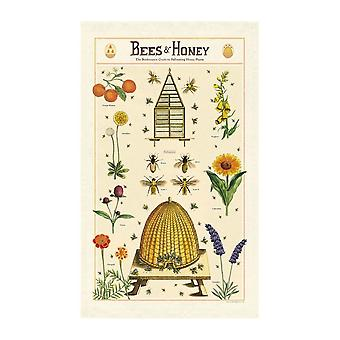Cavallini Vintage Bees & Honey Cotton Tea Towel