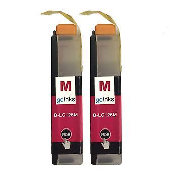 2 Magenta inktcartridges ter vervanging van Brother LC125XLM Compatible/non-OEM by Go-inkten