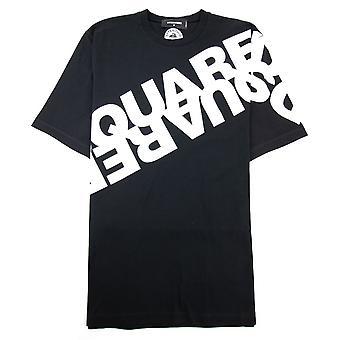 Dsquared2 Diagonal Logo Print Tshirt Schwarz