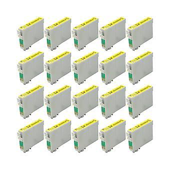 RudyTwos החלפת 20x עבור Epson 18XL (דייזי) יחידת דיו תואם צהוב עם ביטוי Home XP-102, XP-202, xp-205, xp-212, XP-215, xp-225, xp-30, xp-33, xp-, xp-302, xp-, xp-305, xp-312, XP-