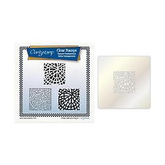 Claritystamp Fossil Leaf Tile Square Stamp Set + Stencil