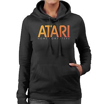 Atari Hem Datorer Orange Logo Kvinnor & Apos; s Hooded Sweatshirt
