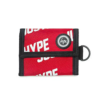 Hype JustHype Trifold Wallet Money Card Coin Holder Purse Red