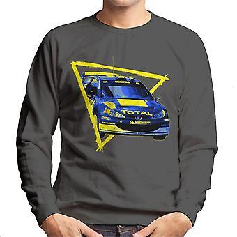 Motorsport Bilder Peugeot 206 WRC Blue Men's Sweatshirt