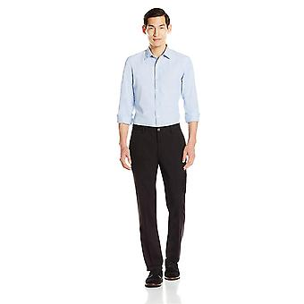 Goodthreads Men's Straight-Fit Wrinkle-Free Dress Chino Pant, Black, 35W x 32L