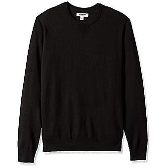 グッドスレッド メン&アポス s メリノ ウール クルーネック セーター, ブラック, ミディアム