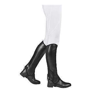 Saxon Syntovia Childrens Half Chaps - Black