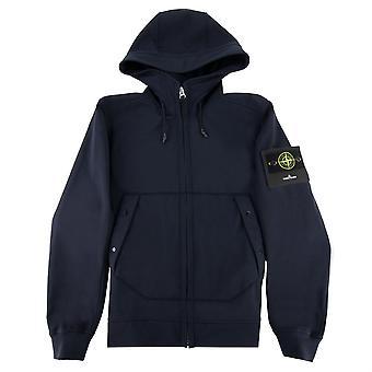 Stone Island Soft Shell-r Hooded Jacket Navy V0020