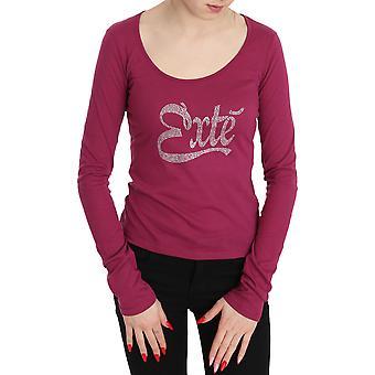 Pink Exte Crystal verfraaid long sleeve top - TSH3612848