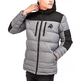 Kings Will Dream Boden Charcoal Grey Hooded Puffer Jacket