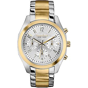 Caravelle Watch 45L136 - Plated Stainless Steel Ladies Quartz Chronograph