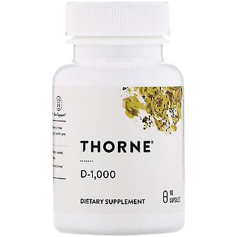 Thorne Research, D-1.000, 90 Capsules
