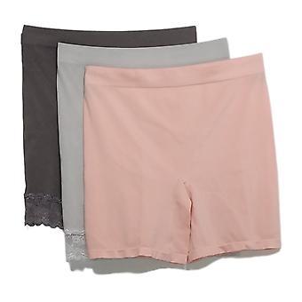 Breezies Plus Shaper Mid-Thigh Short Set Of 4 Asst W/ Light Gray A374503