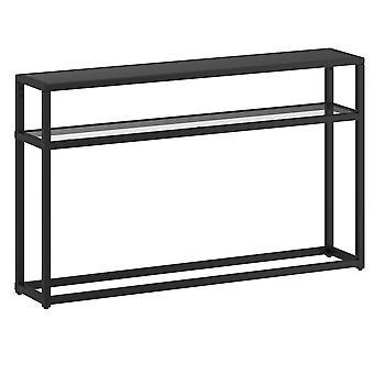 ジョサイア 2 段コンソール テーブル - ブラック