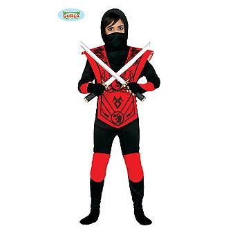 Guirca Red Ninja Fighter Children Costume Carnival Costume Boys Herói Guerreiro Carnaval