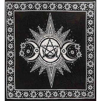 Wild star hearts - sun moon - altar cloth