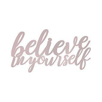 Believe in Yourself Matte Pink Wall Art