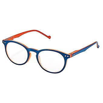 Reading glasses Unisex Libri_x two-tone thickness +3.0 blue/orange