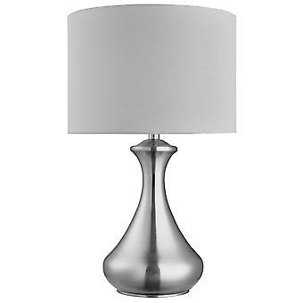 1 Lichte Tafelaandaandui zen zilver met witte tint, E14