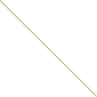 14 k Gelbgold solide poliert hohle Perle Hummer Kralle Verschluss 1,2 mm funkeln geschnitten Baby Kugel Kette Halskette - Länge: 14