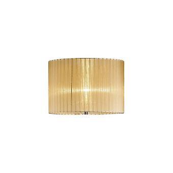 38 Cm Round Organza Fabric Lampshade Bronze