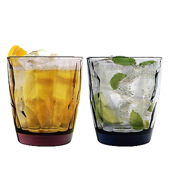 Bormioli Rocco Diamond Dimpled Double Old Fashioned Tumblers - 390ml - Set of 12