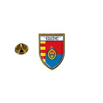 pine pine pine badge pin-apos;s souvenir city flag country coat of arms elche spain