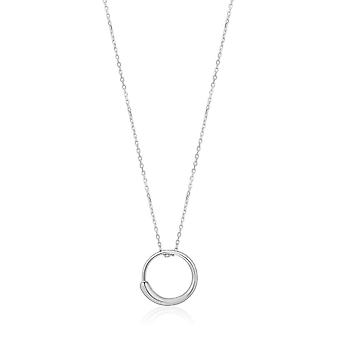 Ania Haie Luxe Minimalism Rhodium Luxe Circle Necklace N024-01H