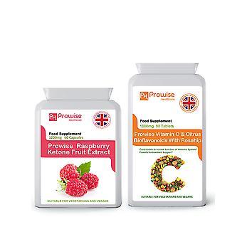 Raspberry Ketones + Vitamin C | Suitable For Vegetarians & Vegans | Made In UK