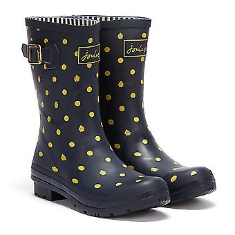 Joules Molly Mid Height Lady Bird Womens Navy Wellies