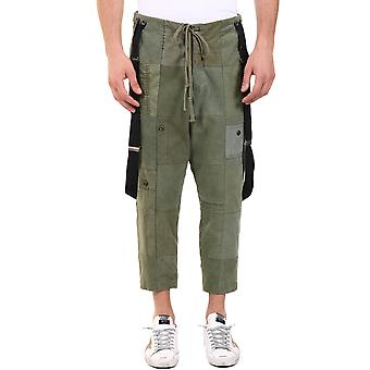 Greg Lauren Am022army Men's Green Cotton Pants