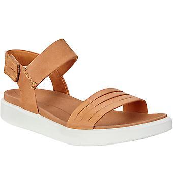 Ecco Womens Flowt Casual Summer Beach Flip Flops Sandálias - Marrom