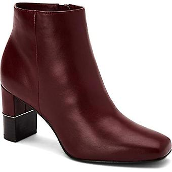 Alfani Womens Walliss Solid Leather Ankle Boots