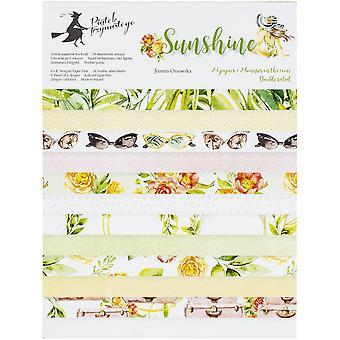 """P13 Almohadilla de papel de doble cara 6""""X8"""" 24/Pkg-Sunshine, 6 Diseños/4 Cada uno"""