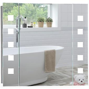 LED Bathroom Mirror Cabinet 60cm(H) x 65cm(W) x 13(D) C20