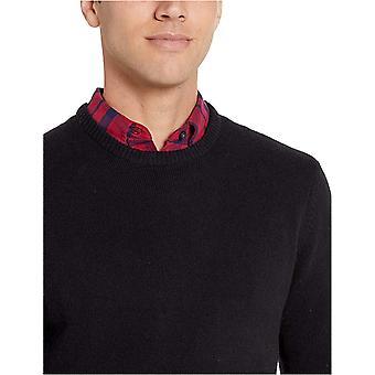 Essentials Men's Midweight Crewneck Sweater, Black, Medium